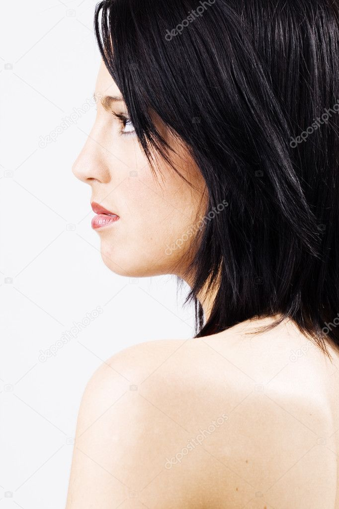 Profile of beautiful young female  Stock Photo #4728304
