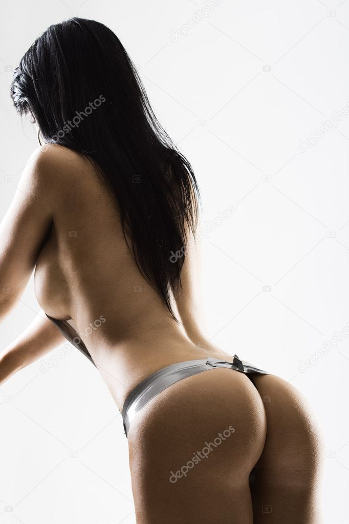 Young slim female with beautiful bum from behind — Stock Photo #4728517