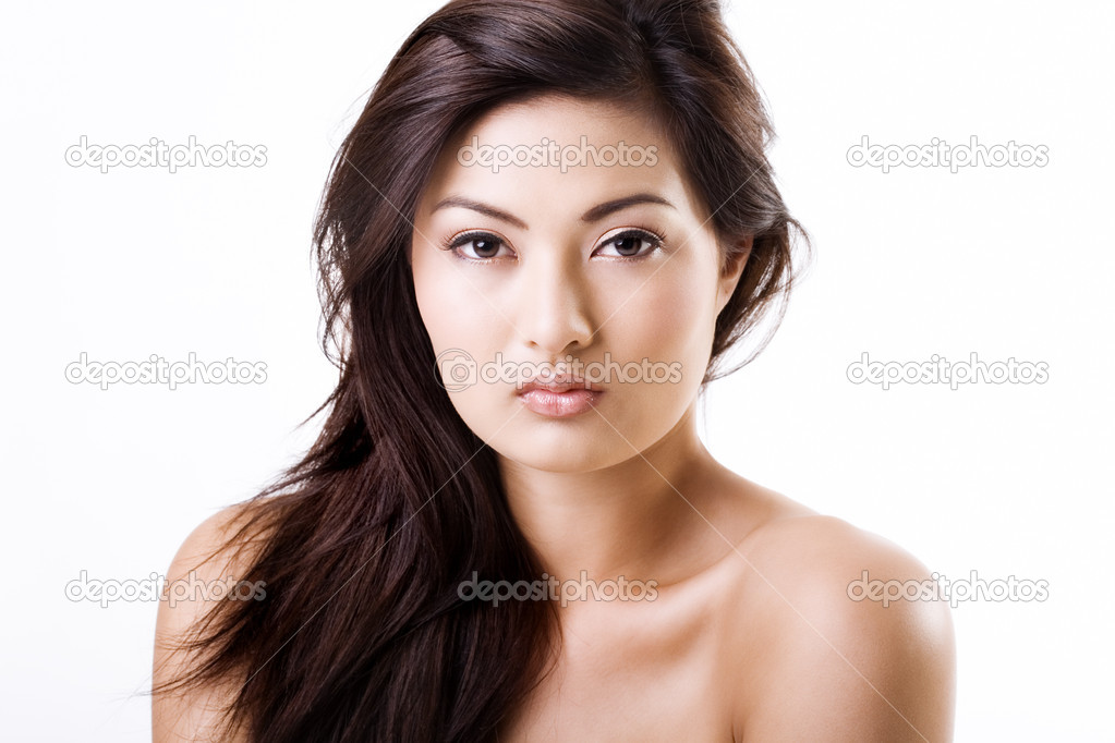 Beautiful asian woman with natural clean makeup  Stock Photo #4728601