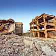 Ruins of buildings after earthquake — Stock Photo #4431563