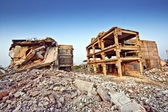 Ruins of buildings after an earthquake — Stock Photo