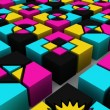 colored cubes — Stock Photo