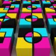 Stylish Cubes - Stock Photo