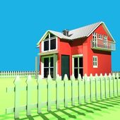 Lovely Red House — Stock Photo