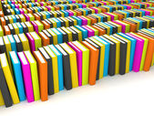 Stile di libri colorati — Foto Stock