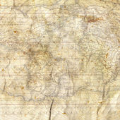 Ancient Old Map Paper — Stock Photo