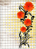 Old Grunge Paper And Floral Design — Stock Photo