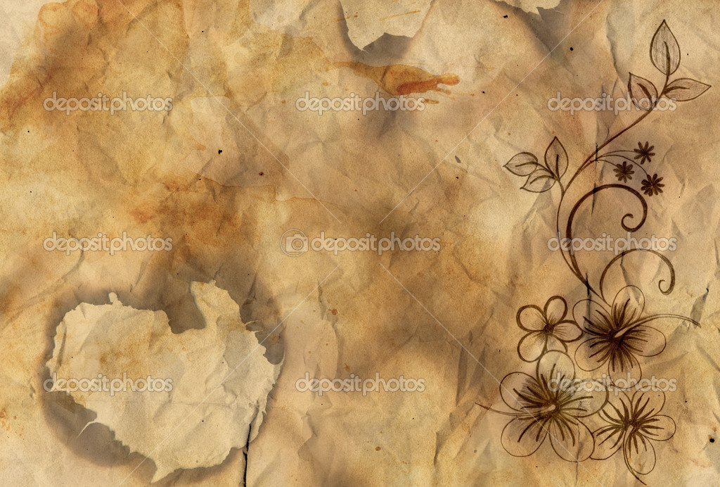 old style paper background Grunge old paper background - aged pages for scrapbooking - retro style  illustration backdrop - light brown vintage stained canvas - buy this stock  illustration.