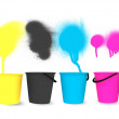 Colorful Spray Buckets — Stock Photo #5242150