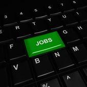Green Jobs Button — Stock Photo