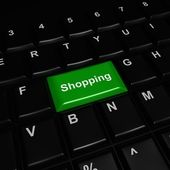 Green Shopping Icon — Stock Photo