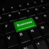 Green 3d Business Button — Stock Photo