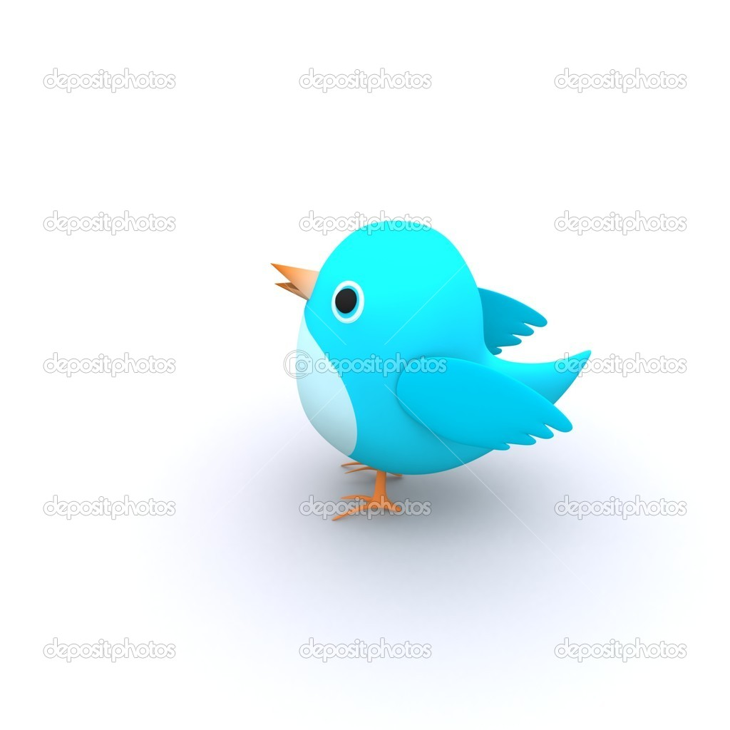 Beautiful Lovely Concept Of Blue Tweet Bird — Stock Photo #5242613