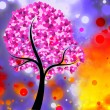 Colored Heart Tree — Stock Photo