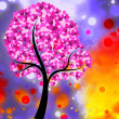 Stock Photo: Colored Heart Tree