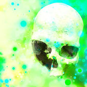 Grunge Skull Head Concept — Stock Photo