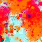 Colored Smoke Floral Design — Stock Photo