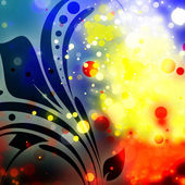 复古风格平铺的背景装飾的な色の花のスタイルの背景 — ストック写真