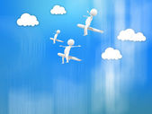 Flying Peoples Concept — Stock Photo
