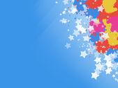 Toile de fond colorée splash étoiles — Photo