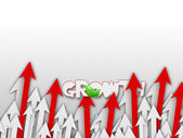 Red & White Growing Arrows — Stock Photo
