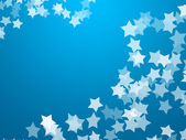 White Stars On Blue Background — Stock Photo