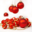 Christmas still-life with a red ball — Stock Photo