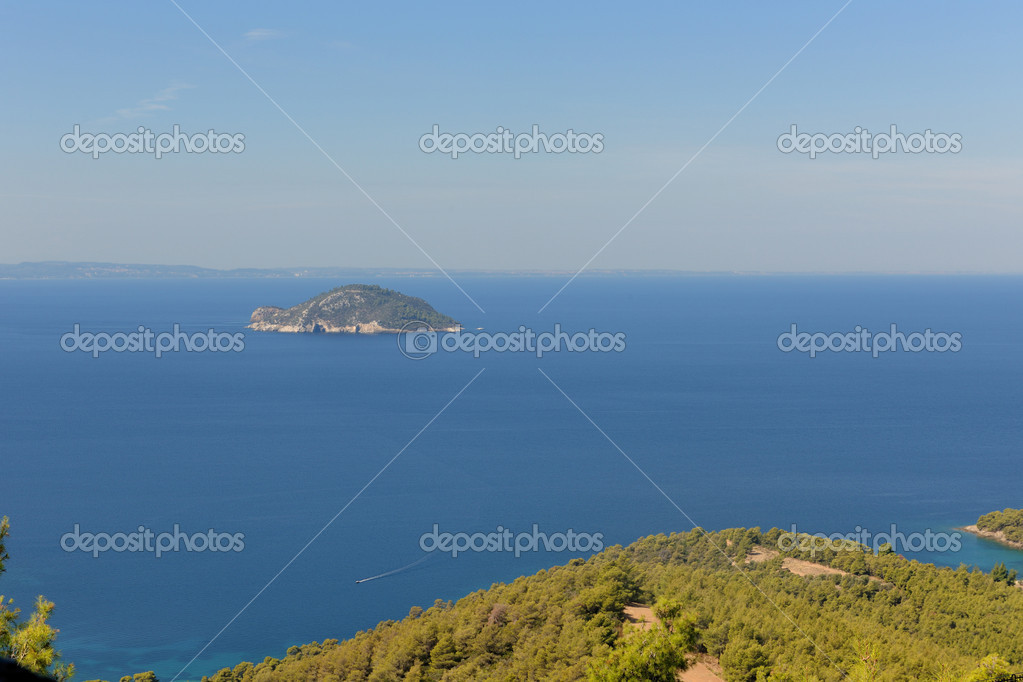Beautiful view of the Aegean sea, Halkidiki, Greece — Stock Photo #4642635