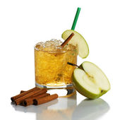 Cocktail with apple juice — Stock Photo