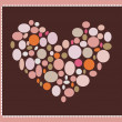 Stock Photo: Valentine background with heart from bubbles