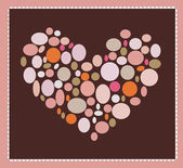 Valentine background with heart from bubbles — Stock Photo