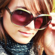 Girl in sunglasses — Stok fotoğraf