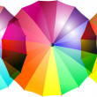 Stock Photo: Repeatable rainbow-colored umbrellborder