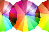 Repeatable rainbow-colored umbrella border — Stock Photo