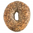 Poppyseed and sesame bagel — Stock Photo