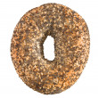 Stock Photo: Poppyseed and sesame bagel