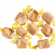Stock Photo: Fudge sweeties in transparent wrappers
