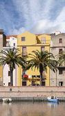 Bosa, Sardinia - view over Temo river — Stock Photo
