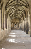 Colonnade in St. John's college, Cambridge, UK — Stock Photo