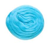 Felting wool, isolated, on white — Stock Photo