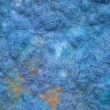 Hand-made felt in blue color scheme - texture background - Stock Photo