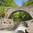 Old stone arch bridge over rapids, Killin, Scotland — Stock Photo