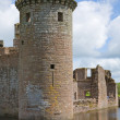 Moated Caerlaverock Castle, Scotland, , main tower - Stock Photo