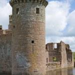 Moated Caerlaverock Castle, Scotland, , main tower — Stock Photo