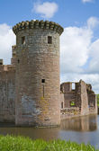 Moated Caerlaverock Castle, Scotland, , main tower — Stock Photo