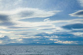 Mackerel sky, view over the Firth of Forth towards Fife, Scotlan — Stock Photo