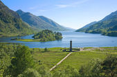 Memorial to the Jacobites, at Glenfinnan, Highlands, Scotland — Stock Photo