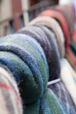 Woollen paids for sale — Stock Photo