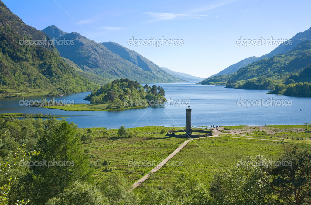 Memorial to the Jacobites, at Glenfinnan, Highlands, Scotland — Stock Photo #4933854