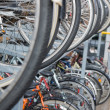 Green transport - tow-tiered bike storage in Denmark — Stock Photo